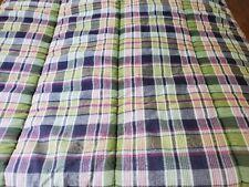 Ralph Lauren Comforter Madras Plaid - Purple, Yellow Pink & Green 3pc KING SIZE