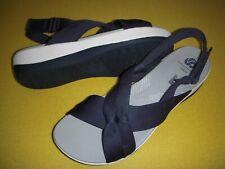 Clarks Arla Belle CloudSteppers Jersey Slingback Sport Sandals Women's 8 M Navy