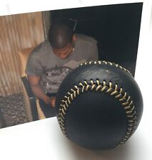 Ivan Nova Autographed OML Black Baseball Gold Stitching With Picture (468)