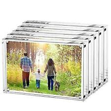 Boxalls Magnetic Photo Frame Clear Acrylic Picture Frames Double Sided Stand In