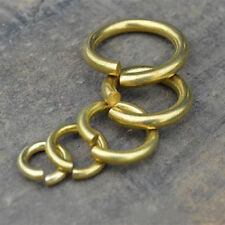 Solid brass opening jump rings Making jewelry findings keychain links connector