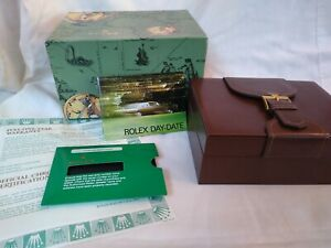 Vintage ROLEX DAY-DATE PRESIDENT Watch Box w/ Leather Case & Paperwork
