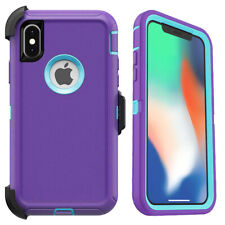 For iPhone X XS Max XR 11 Pro Max Defender Case Cover | Belt Clip Fits Otterbox