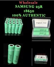 Samsung 25R 18650 2500mAh 35A High Drain Rechargeable Battery Wholesale