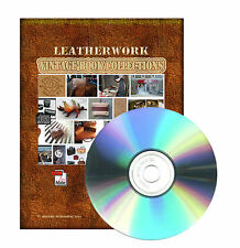 Leather, Leatherwork, Leathercraft, How to Do, Making, Manufacture - Books on CD