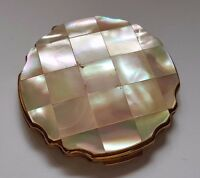 VINTAGE STRATTON LOOSE POWDER COMPACT - MOTHER OF PEARL