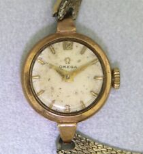 Ladies Solid 9k Gold Vintage OMEGA WATCH ~ 17 Jewel #244 Movement