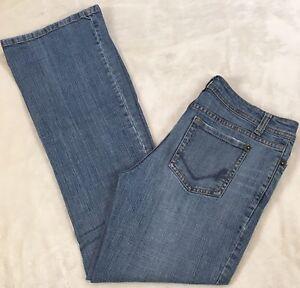 "Bisou Bisou Jeans Womens Sz 6 X 29"" Low Rise Boot Cut Jeans Medium Wash Stretch"