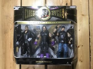 WWE Classic Superstars The 3 Faces Of The Undertaker 3 Pack Jakks Pacific 2005