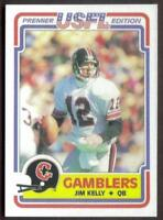 Jim Kelly Rp Rookie Card #36 USFL Gamblers Bills RC '84
