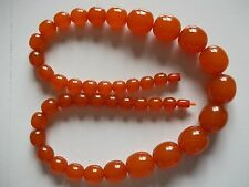 Vintage Baltic/Latvian natural amber bead necklace, 130 grams, 29 inches long