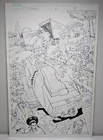 G.I. Joe VS Transformers #1 PG 8 ORIGINAL  COMIC ART MIKE MILLER JOSH BLAYLOCK