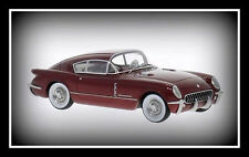wonderful modelcar Chevrolet Corvette Corvair Concept 1954 - darkred - 1/43