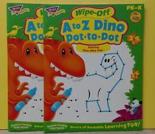 Trend T-94161 A to Z Dino, Dot to Dot, Wipe Off,  Pk-K ~ Free Shipping ~ 2 Pack