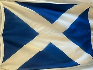 "Vintage Nautical - Signal Flag Letter M  28"" x 38"" -  Blue & White Maritime"