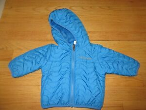13J/BOYS COLUMBIA REVERSIBLE FLEECE LINED JACKET/QUILTED/FULL ZIP/3-6 MO/BLUE!