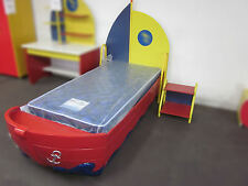 """NEW KIDS BOYS BEDS """" THE BOAT BED """" CAR BEDS WITH BEDSIDE"""