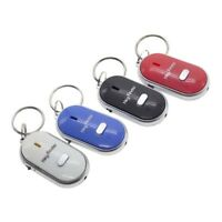 LED Whistle Lost Key Finder Locator Voice Control Electronic Find Keys Chain Fob