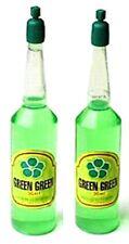 2 Bottles of SUPER GREEN GREEN Lucky Bamboo Plant Food Fertilizer (36ml/bottle)