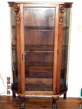 Antique Oak Claw Footed Hutch ( Local Pick up Only, Long Island Ny )