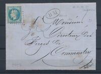 1869 Lettre N°29 Obl PCduGC211 Aubusson + BM AHUN les MINES CREUSE(22) X2808