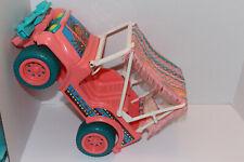 "Mattel 1990 13"", Barbie Western Fun Desert Rider Pink Arco Jeep Car Canopy #7443"