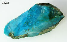 Classic LG Deep Blue Translucent Gem Silica Chrysocolla Rough Slab Arizona 364ct
