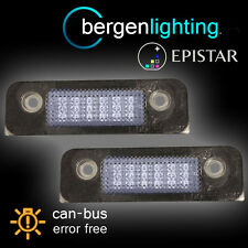 FOR FORD FIESTA MONDEO FUSION 18 LED NUMBER PLATE LIGHT LAMP PAIR
