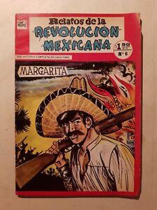 Vintage Mexican comic RELATOS DE LA REVOLUCION MEXICANA #6 FROM 60's