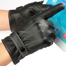Guantes de cuero de la pantalla táctil de cuero suave impermeable de las mujeres