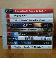 LOTE 9 JUEGOS SONY PLAYSTATION 3 PS3 GAMES LOT COMPLETOS