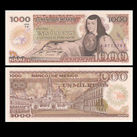 Mexico 1000 Pesos Banknote, 1985, P-85, UNC, North America Paper Money