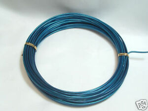 1 x 12m Reel Anodised Aluminium Craft Wire : 03 Dk Turq