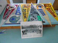 Vintage Washington Redskins Banners and 1972  Team Photo Cowboys, Rams, Raiders