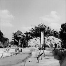 Vintage KNOTTS BERRY FARM CONSTRUCTION PHOTO, Calico Log Ride Flume Being Built