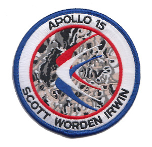 Official NASA Apollo 15 Embroidered Mission Patch, Scott, Worden and Irwin