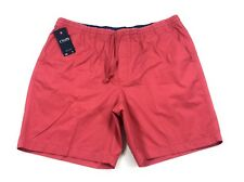 Chaps Ralph Lauren Men's Big & Tall Shorts Size 1XB Nantucket Red Elastic Waist