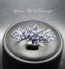 9ct Gold Tanzanite Cluster Ring Size M
