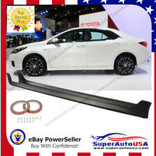 Fit For 2014-2018 Toyota Corolla MOD Style Side Skirts Body Kit Black PP JDM VIP