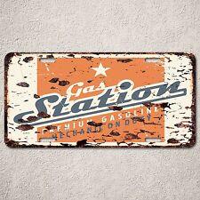 LP0108 Gas Station Sign Auto License Plate Rust Vintage Home Store Decor