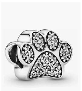 Pandora Paw Prints Charm, Sterling Silver, Cubic Zirconia 791714CZ