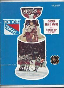 1971 NHL Playoff Semi-Finals Program (Black Hawks vs. Rangers) nr.mt (see scan)