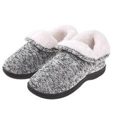 Women's Fuzzy Warm Memory Foam Slippers Boots Cozy Booties Winter House Shoes