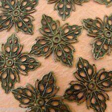 Sale 24pcs 35mm Antique Bronze Filigree DIAMOND Wraps E161Y-AB