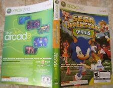 Xbox 360 Live Arcade Compilation SEGA Superstars Tennis Box Art Insert NO DISCS