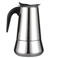 Italian Style Stove Top Espresso Coffee Maker Stainless Coffee Pot 9 Cup