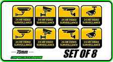 CCTV SECURITY STICKER WINDOW WARNING ALARM HOME BUSINESS VIDEO SURVEILLANCE SET