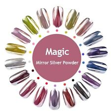 MAGIC MIRROR NAILS SUPER CHROME POWDER Mirror Shimmer Effect Trendy Nail (AX1)