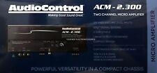 NEW Audio Control ACM2.300 Compact 2 Channel Class-D Car Amplifier, 2 Ohm Stable