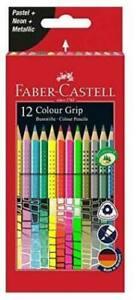 Faber-Castell 12 Pastels Colors Pastel Neon From Colors Brilliant + Grip